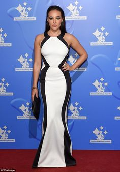 Transformation: Stephanie Davis oozed retro glamour at the National Lottery Awards in Lond...
