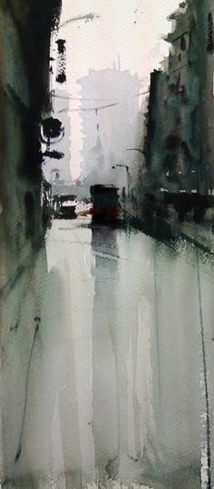 Manolo Jiménez Prueba de pigmentos #watercolor jd