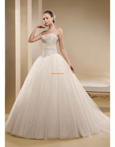 Brillant & Séduisant Crystal détaillant Plongeant Robes de mariée 2014