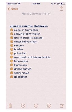 Birthday Sleepover Ideas, Sleepover Party Games, Teen Sleepover, Sleepover Activities, Birthday Party For Teens, Teenage Sleepover Ideas, Summer Bucket List For Teens, Summer Fun List, Summer Diy
