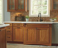 Diamond Prelude Arden Cherry Whiskey Black on Cattail - Arden's mitered styling adds to the versatility in design making an ideal solution for any personal style. Black Kitchen Cabinets, Kitchen Cabinet Design, Kitchen Cabinetry, Black Kitchens, Cool Kitchens, Kitchen Stuff, New Kitchen, Kitchen Ideas, Traditional Looks