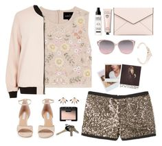 """""""i believe in pink"""" by thosewhowonderarenotalwayslost ❤ liked on Polyvore featuring Needle & Thread, River Island, MANGO, Rebecca Minkoff, Diane Von Furstenberg, MAKE UP FOR EVER, Salvatore Ferragamo, Pamela Love, Avon and NARS Cosmetics"""