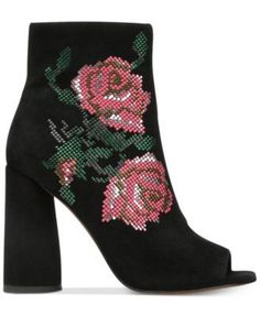 Donald Pliner Barri Booties $298.00 Pressed stones create a modern floral design on the sleek silhouette of Donald Pliner's Barri shooties in a striking accent to skinny jeans and skirts.