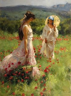 Oil painting by Vicente Romero Redondo