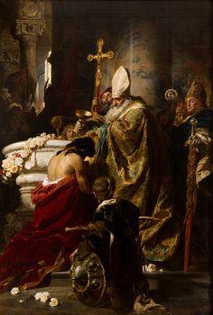 Benczúr, Gyula - The Baptism of Vajk