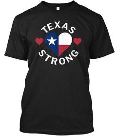 Texas Strong Hurricane Relief Shirt Black T-Shirt Front