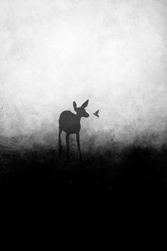 deer art, fawn art, cute art, hummingbird, birds, doe, black and white art, fawn silhouette, deer silhouette