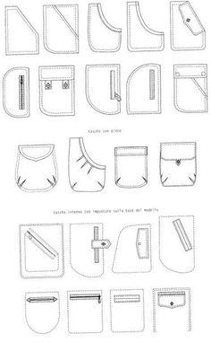 Технические рисунки карманов