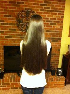 straight & shiny long hair