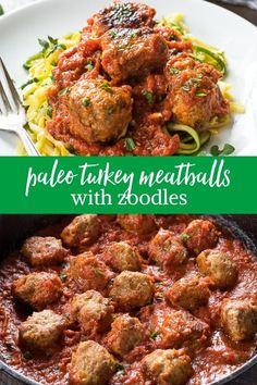 Cajun Delicacies Is A Lot More Than Just Yet Another Food Paleo Turkey Meatballs With Zoodles Is Flavorful, Grain Free Turkey Meatballs Cooked In Marinara Sauce. Serve Over Zoodles For A Delicious Low Carb Meal Via Flavorthemoment Turkey Meatball Sauce, Paleo Turkey Meatballs, Paleo Meal Prep, Paleo Dinner, Paleo Meals, Paleo Food, Supper Recipes, Healthy Dinner Recipes, Delicious Meals