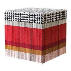 KVITTRA Kasten mit Deckel - rot, 25x25x25 cm - IKEA