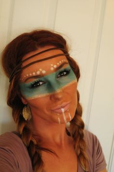Pix For > Native American Tribal Makeup