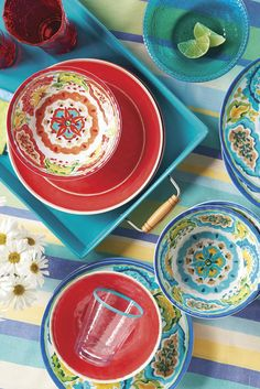 our gorgeous melamine dinnerware is now available at walmart get it in floral blue - Melamine Dishes