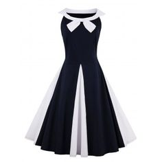 SHARE & Get it FREE | Two Tone Sleeveless A Line Vintage DressFor Fashion Lovers only:80,000+ Items·FREE SHIPPING Join Dresslily: Get YOUR $50 NOW!
