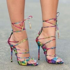 Amazing Lace-Up Heels by oldrose