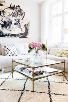 Shop from the best fashion sites and get inspiration from the latest sofa. Living Room Yellow And Brown, Living Room White, Living Room Sets, Home Living Room, Living Room Decor, Living Area, Decorating Coffee Tables, Furniture Decor, Home Accessories
