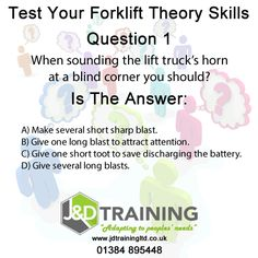 Forklift question of the day 1 from http://ift.tt/1HvuLik #forklift #training #safety #jobsearch