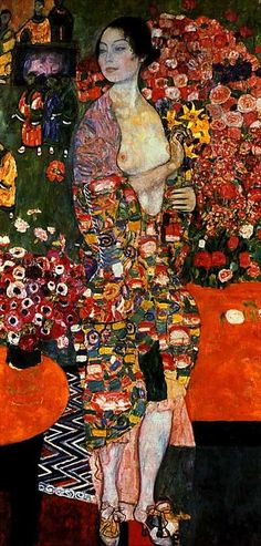 "Gustav Klimt, ""The Dancer,"" 1916-1918."
