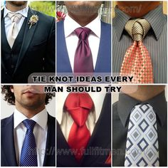 tie knot ideas
