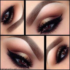 Tutorials Para un Smokey eye Dorado