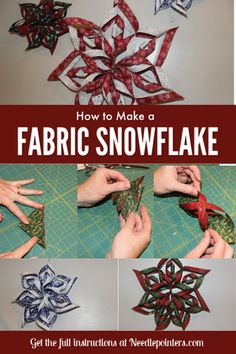 100 Brilliant Projects to Upcycle Leftover Fabric Scraps - Annered Folded Fabric Ornaments, Quilted Christmas Ornaments, Christmas Sewing, Fabric Christmas Decorations, Christmas Fabric Crafts, Christmas Projects, Holiday Crafts, Summer Crafts, Sewing Crafts