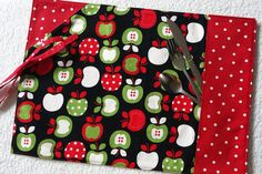 Roll up Placemat Ustensils Section Travel by mylittlepoppyseed, $18.00  Cloth placemat with an enclosed section for ustensils and napkin. Great for office, school, traveling or picnic!   Visit and like my Facebook page: https://www.facebook.com/pages/MyLittlePoppySeed/111614175583229?fref=ts More handmade creations in my Etsy shop: http://www.etsy.com/shop/mylittlepoppyseed