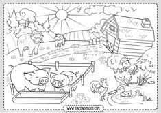 ausmalbilder bauernhof 01 | thema bauernhof, ausmalbilder