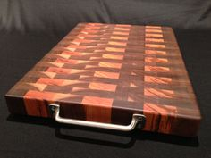 Tigerwood Black Walnut End Grain cutting board, Wood Counter top idea