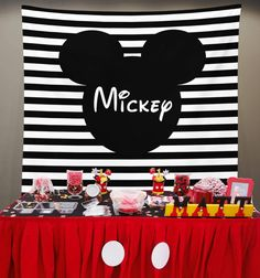 Best ideas for Mickey Mouse Theme Party Decorations! Decorate in style with this custom banner! Personalized birthday backdrop wall banner will be sure to wow your guests and make for gorgeous photographs, too. Mickey Mouse Backdrop, Mickey Mouse Theme Party, Mickey Mouse Birthday Decorations, Mickey Mouse Clubhouse Birthday Party, Mickey Birthday, 1st Birthday Parties, 2nd Birthday, Mickey Mouse Banner, Mickey Mouse Balloons