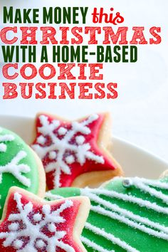 A home-based cookie business is a great way to make money from home for Christmas if you love cookies treats. Here is how to get started selling cookies from home. You can sell cookies that you make at home and start your own side hustle and earn extra income for the holidays. Great Christmas money maker Christmas On A Budget, Christmas Home, Christmas Cookies, Christmas Ideas, Make Money From Home, Way To Make Money, How To Make, Earn Extra Income, Money Saving Tips