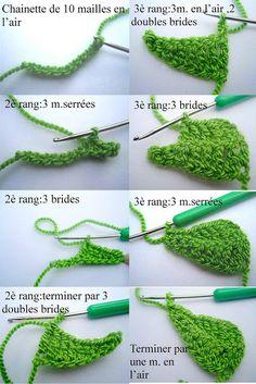 Les mains dans la tête: Les feuilles au crochet