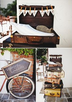 Vintage suitcase to hold things like the wedding gift cards. vintage wedding ideas
