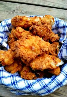 I made a combination by having crushed cornflakes in a separate bowl - after dipping the chicken in the flour, milk etc.; I once again put the chicken in buttermilk and