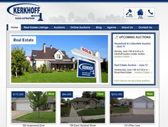 Kerkhoff Auction and Real Estate Website Design  #websitedesign  http://www.kerkhoffauction.com