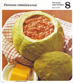 """I know enough Swedish to know the word """"head"""" is in this recipe title. I know enough anatomy to know this looks like a brain salad."""