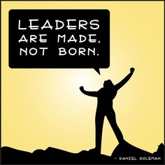 Leaders are made, not born. - Daniel Goleman