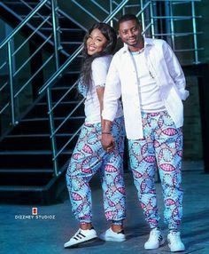 Ankara Trousers 2020 : No Matter Body's Type & Size - Pretty 4 Couples African Outfits, Couple Outfits, African Attire, African Wear, African Dress, Ankara Dress, African Fashion Designers, African Print Fashion, Africa Fashion