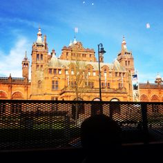The view from Brewdog Bar in Glasgow, of Kelvingrove Art Gallery.