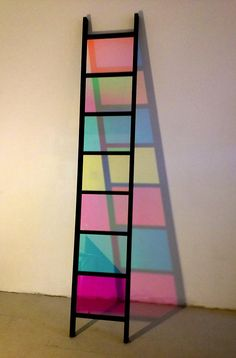 Stephen Dean, Black Ladder, (2013). Actually if the steps are made about two inches thick, it can be used to display exotic artifacts...would look really cool..what do you feel?