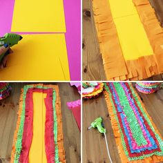 How to Piñata Your Party Using Only 3 Materials | Brit + Co. - love the table runner