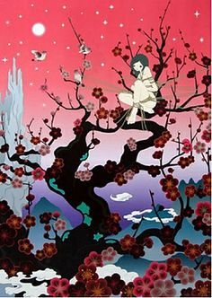 This has been my back tat inspiration for over 5 years... The tree mostly, not the bounded girl. Chiho Aoshima