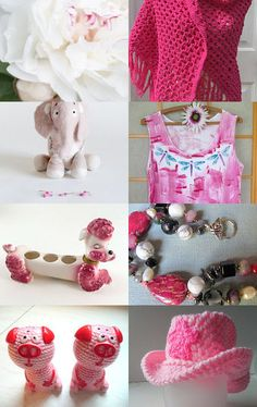 Pink Poodles and Peonies by amy berryman on Etsy--Pinned with TreasuryPin.com