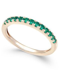 Emerald Band (1/2 ct. t.w.) in 14k Gold | macys.com