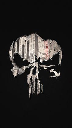 superhero wallpaper - Marvel's The Punisher Phone Wallpaper Punisher Logo, Punisher Marvel, Punisher Skull, Skull Wallpaper, Hd Wallpaper Iphone, Marvel Wallpaper, Deadpool Wallpaper, Screen Wallpaper, Skull Art