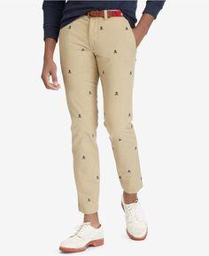 25c41d46 Polo Ralph Lauren Men's Stretch Straight-Fit Chino Pants & Reviews - Pants  - Men - Macy's