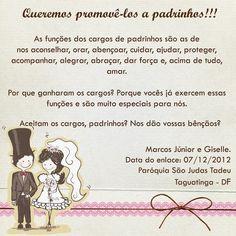 Convites de Casamento para Padrinhos - Véu da Noiva - Blog de Casamentos