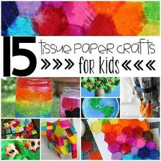 Tissue Paper Crafts For Kids #MedinaLibrary #CraftsforKids #Playideas