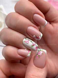 nail ideas There are many inspirations for you to choose that you can create different nails looks. There is a manicure for everyone, from the classic french nails to edgy Ombre nails. Fingernail Designs, Acrylic Nail Designs, Nail Art Designs, Nails Design, Almond Nails French, French Nails, Flower Nail Designs, Nail Designs Spring, Spring Nail Art