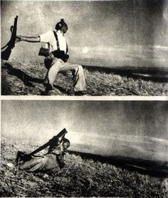 Spanish civil war: Famous photograph by Robert Capa captures moment of Spanish freedom fighter's death at hands of Franco's fascists. Victorian Poetry, Battle Of Normandy, Spanish War, First Indochina War, British Literature, African American Artist, Revolution, War Photography, Crime