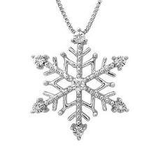 I AM LOVED Diamond Snowflake Pendant-Necklace in Sterling Silver and 14K Rose Gold